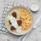 Koleciki z soczewicy, ryż, surówka colesław