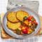 Placki ziemniaczane z leczo warzywnym