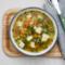Rosół z warzywami i kaszą manną